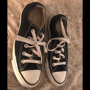 Black Converse Sneakers Sz 6 Women's